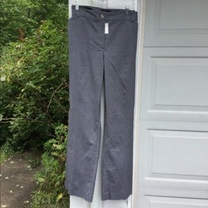 NWT Talbots Gray Cotton Top Stitching Pants